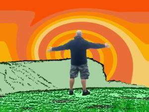 iain and orange rainbow