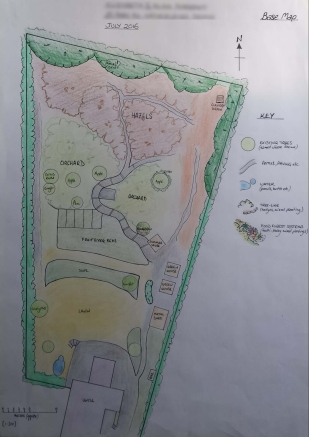 Base Map - Edible garden design